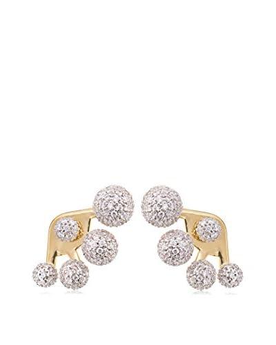 nOir Multi-Sphere CZ Pave Earrings