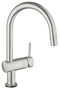Grohe 31359DC0 Minta Touch-Activated Electronic Single-Handle Kitchen Faucet, Super Steel