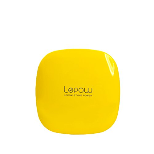 Lepow Moonstone External Battery Pack, Portable Battery Charger and Travel Charger 6000 mAh - Compatible with Apple iPhone 6 Plus, 6, 5, Apple iPad, Samsung S6, S5, and Other Devices (Yellow) (Psp 1000 Car Charger compare prices)