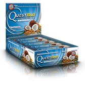 Quest Bar 100% Natural Coconut Cashew - Low Carb, High Protein Bars that are High Fiber and Gluten Free - Box of 12