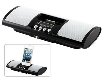 1.5 '87.5-108Mhz 5.1-Channel Portable Speaker Base With Remote Control For Iphone 4 & 4S, Iphone 3 And 3Gs, Ipod, Ipad (Black)