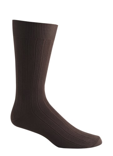 Jockey Cotton Ribbed Crew Socks - 5 Pack, stone/olive/brown, 11-13
