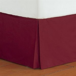 """500 Thread Count 100% Egyptian Cotton Solid Burgandy King / California King 21"""" Drop Length Bed Skirts front-1018708"""