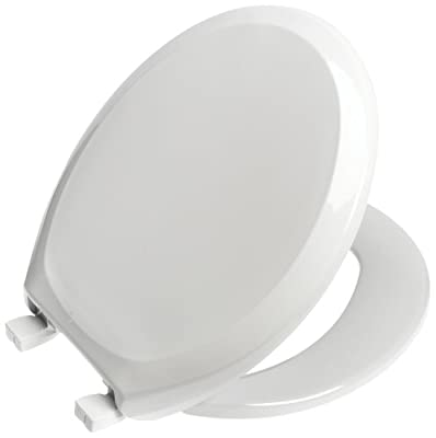 Mayfair 1349EC 000  Embroidered Soft Toilet Seat with Easy Clean /& Change Hinges
