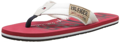 Tommy Hilfiger Men's Bay 16D Thong Sandals Red Rouge (121 Whisper White/Red) 40