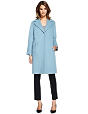 M&S Collection Notch Lapel Oversized Duster Coat