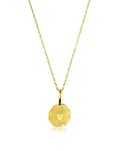 Charlene K Vermeil V Initial Pendant Necklace As You See