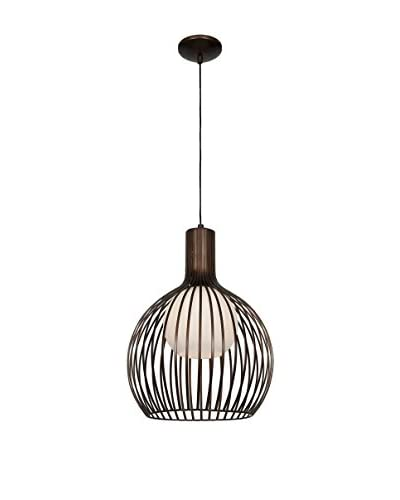 Access Lighting Chuki 1-Light Pendant, Bronze/Opal