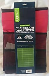 Casemate Classroom Organizer, 27 Pockets Letter Size (Red)
