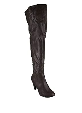 Leatherette Thigh High Boot