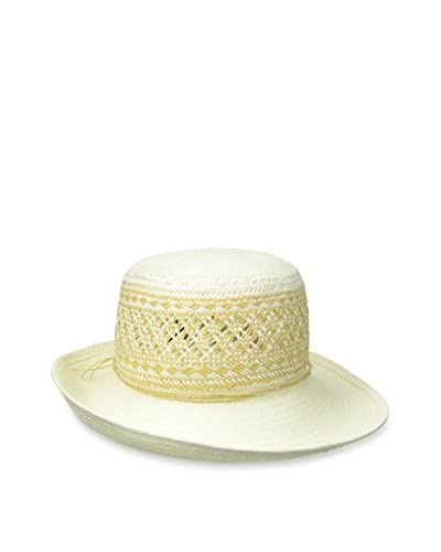Giovannio Women's Off The Face Hat, Ivory/Khaki