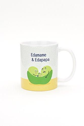 Edamame & Edapapa - Ceramic Coffee Tea Mug - 11-Oz