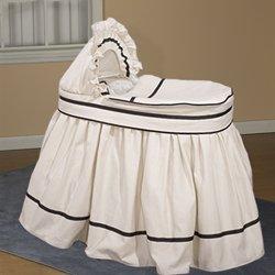 Ecru Friendship Bassinet Liner/Skirt And Hood - 16X32 front-994590