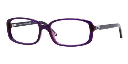 795aee57d789 Versace Women's 3132h Dark Violet Transparent Frame Plastic Eyeglasses, ...