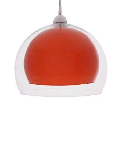 Lámpara De Suspensión Transparente / Naranja