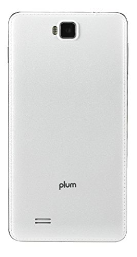 """Plum 6"""" Unlocked Smart Cell Phone Android 4G GSM USA Worldwide QuadCore Dual Camera US Warranty -Whi.."""