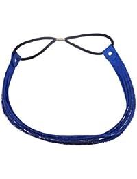 VOGUE Alia Bhatt Inspired Party Stretch Hairband Headband Stretch Band Elasticated (Blue)