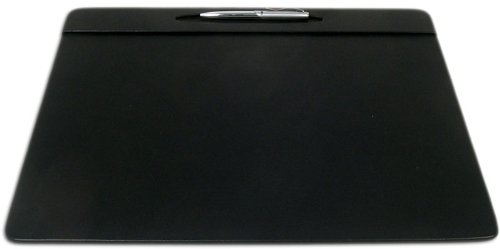 Dacasso Black Leather Conference Table Pad With Pen Well, 17 By 14-Inch