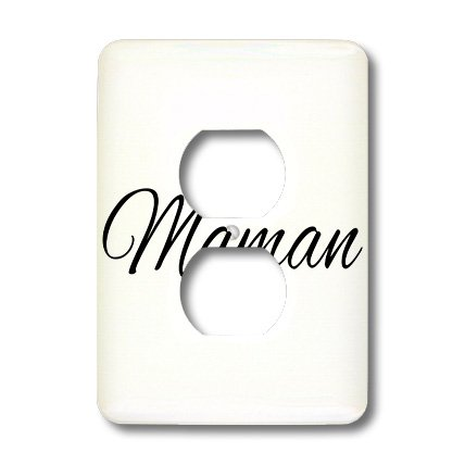 Lsp_193665_6 Inspirationzstore Words For Mom Around The World - Maman - Word For Mom In French - Mother In Different Languages France - Light Switch Covers - 2 Plug Outlet Cover