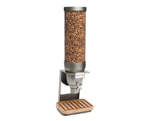 Rosseto EZ550 EZ-SERV Single Container Table-Top Cereal Dispenser with Bamboo Tray, 2-Gallon Capacity, 9