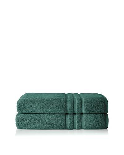 Chortex Irvington 2-Piece Bath Sheet Set, Forest Green