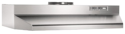Broan 423604 Under Cabinet Hood, 190 CFM, 36-Inch, Stainless Steel