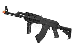 410 FPS CYMA Full Metal Gearbox AK47 CAW Tactical RIS AEG w/ Integrated Rail System and LE Retractable Rear Stock - NEW ENHANCED MODEL