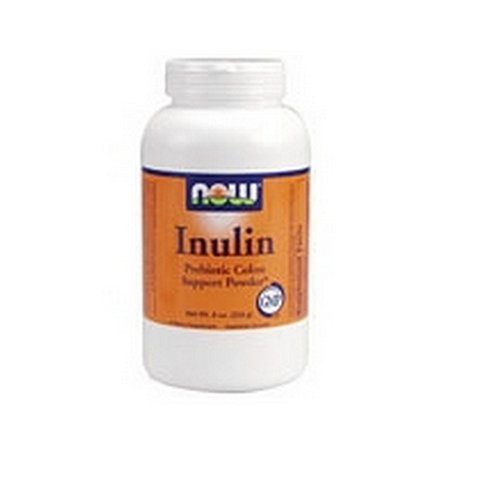 NOW Foods Inulin Prebiotic Fos, 8 Ounces (Pack of 2)