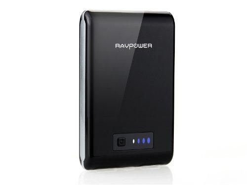 RAVPower RP-PB07 10400mAh 大容量モバイルバッテリー 5V/3A 2USBポート同時充電 1年保証 iPhone5,iPhone4S,apple製品,Xperia,GALAXY S,softbank,au,docomo,Android,各種スマホ,Wi-Fiルータ等対応(ブラック)