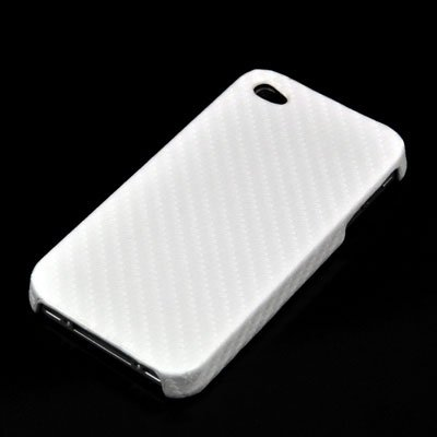 Avanto Carbon Case Tasche f&#252;r Apple iPhone 4 - 8GB &amp; 16GB &amp; 32GB - weiss