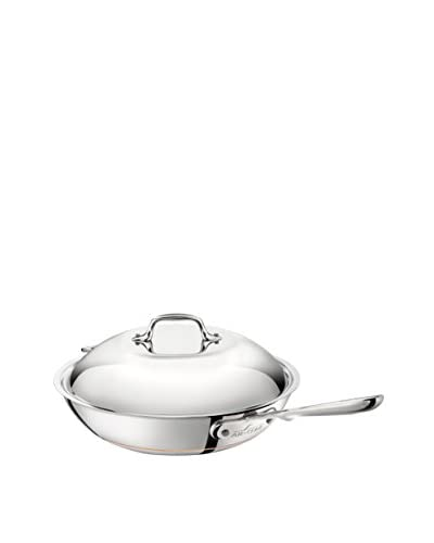 All-Clad 6412 Stainless Steel 12″ Copper Core Covered Chef's Pan