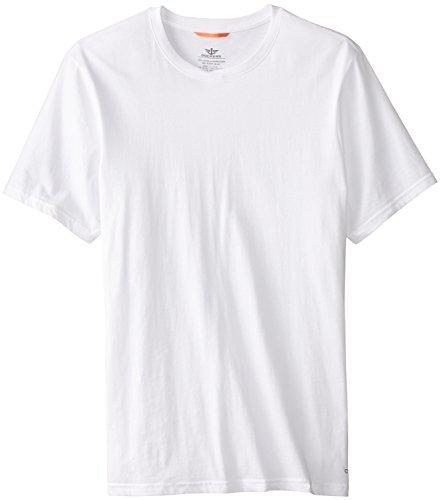dockers men 39 s 3 pack cotton crew neck t shirt white