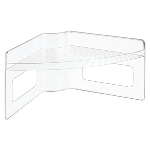 InterDesign Lazy Susan Storage Shelf with Handles For Kitchen Cabinets, Pantry, Clear (Corner Storage Bin compare prices)