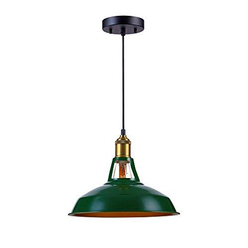 Kiven Industrial Barn Pendant Light Vintage Green Retro Hanging Light Warehouse Lighting Pendant Lighting For Kitchen Island 0