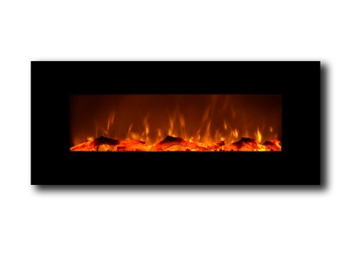 For Sale! Touchstone 50 Onyx Electric Wall Mounted Fireplace with heater - Black
