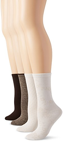 PEDS Women's Assorted Coffee Bean Khaki and Ivory
