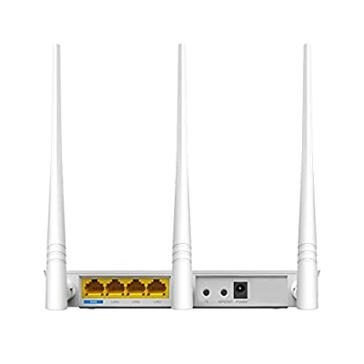 Tenda Fh303 300mbps Wi-fi Wireless Router with 3 5dbi Antennas, 2.4ghz and WPS Button,802.11n,White
