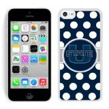 img - for NCAA Pacific Conference Pac Football NCAA Mountain West Conference MWC Utah State Aggies White iPhone 5C Phone Case Genuine Custom Cover book / textbook / text book