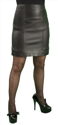 Panelled Leather Skirt (above knee length 18