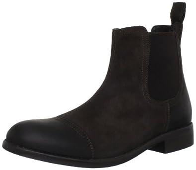 其乐Clarks Men's Clarks Wallace Cap Boot全粒面真皮减震休闲大靴$61.08