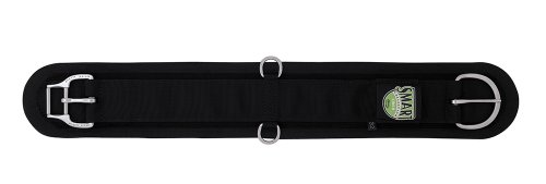 Weaver Leather Felt Lined Straight Smart Cinch with New and Improved Roll Snug Cinch Buckle, Black, 24-Inch