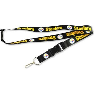 Pittsburgh Steelers Deluxe Breakaway Lanyard (Black)