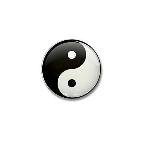 Mini Button Yin Yang Black and White HD