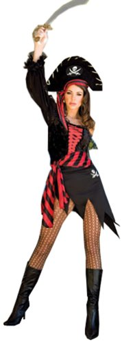 ToBeInStyle Women's Treasure Pirates Outfit w/ Striped Scarf Costume