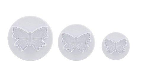 Coupe de givrage - papillon à motifs, set de trois