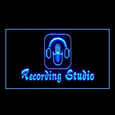 Recording Studio Microphone Advertising Led Light Sig