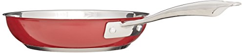 """KitchenAid KCS08TPER Stainless Steel 8"""" and 10"""" Skillets Twin Pack Cookware - Empire Red"""