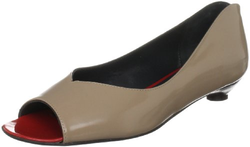 The Old Curiosity Shop Women's Paris-B Beige / Red Open Toe Flats Paris-B 6 UK