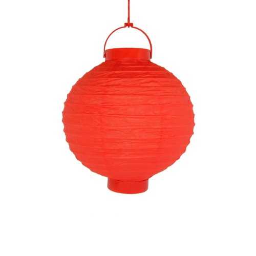 JMK 04094 LED Hanging Paper Lantern - Red - 3 Pack