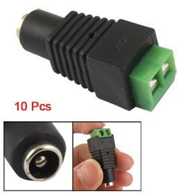 10 Pcs 5.5mm x 2.1mm DC Power Cable Female Connector Plug for CCTV Camera image